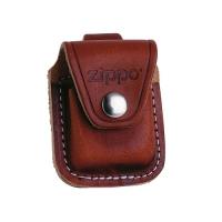 Zippo Ledertasche braun mit Lasche