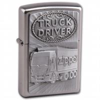 Zippo satiniert Truck Driver Emblem