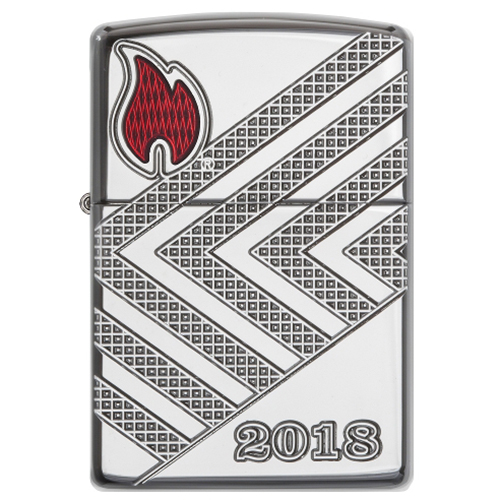 Zippo Limited Chrom poliert Annual Lighter 2018